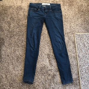 Abercrombie & Fitch dark blue jeggings w/ pockets